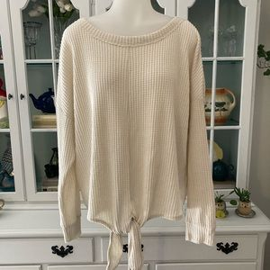 Z SUPPLY waffle knit top